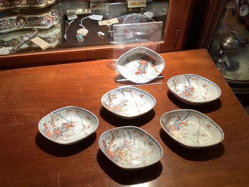 Japanese Edo Porcelain bowls set of six
