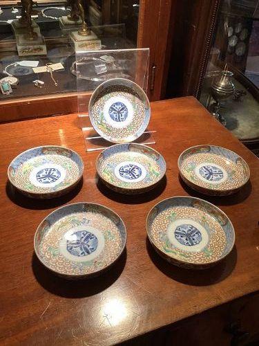 Japanese Imari Miniture Bowls, Edo Period, set of six