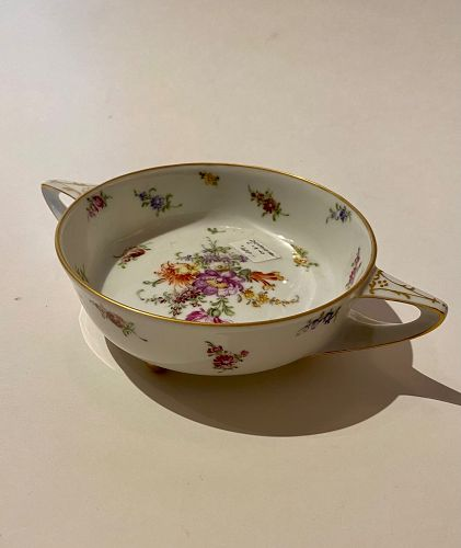 German Dresden Double handle saucer bowl 1920