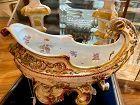 Massive Capodimonte porcelain Ship Italian