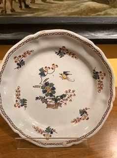 French 18th century plate