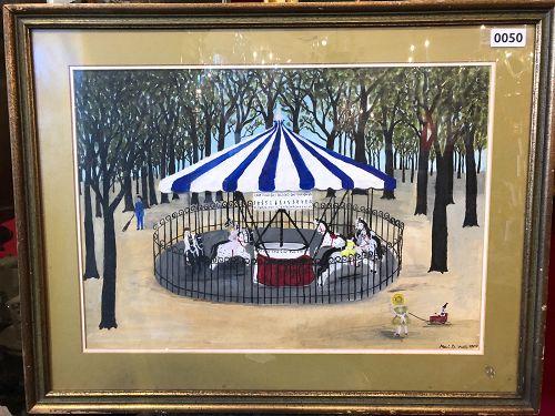 Paris Merry-Go-Round by American Artist Mari B. Watts