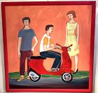 Vespa Painting by Anne Lane