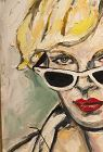 Woman with Sunglasses 1 oil on canvas by Anne Lane