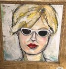 Woman With Sunglasses 2, oil on canvas by Anne Lane