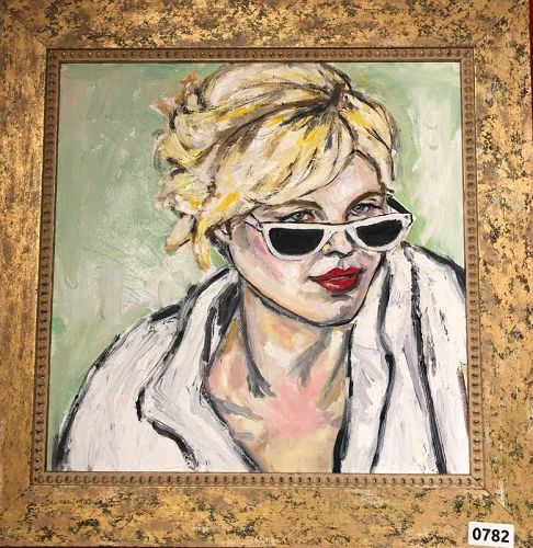 Woman with Sunglasses 3, oil painting by artist Anne Lane