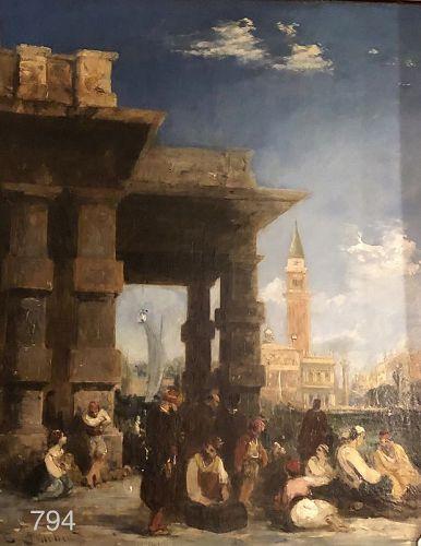 Artist Edward PRITCHETT Venetian Scene 25x18�