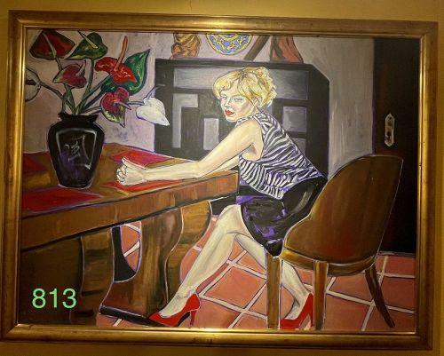 Blonde at Desk