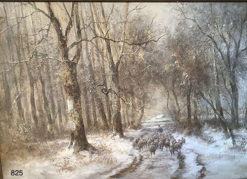 Rural Landscape Sheep Hearder