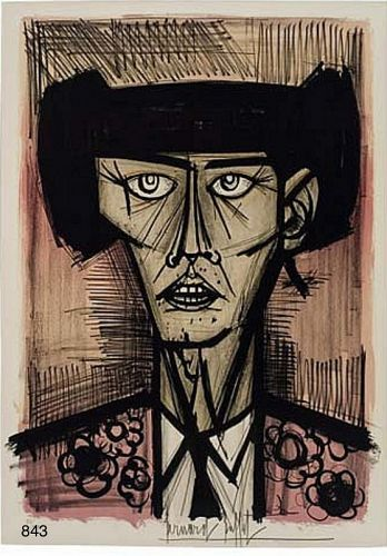 Toreador Lithograph signed Bernard BUFFET.