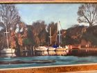 Chester Harbor Maryland oil Harbor Scene Jaqui McBride