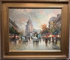 Parisian City View  by Artist Antoine Blanchard