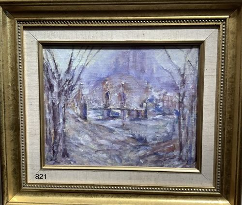 Boston Commons Oil by Robert MOREY, friend of President John F Kennedy
