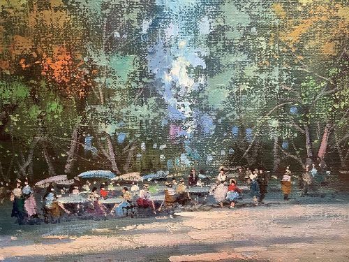 Parisian Park in Spring by V. Tommasini