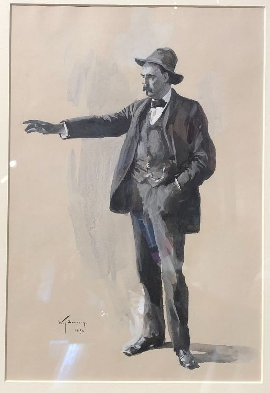 W T Smedley signed Watercolor circa 1890