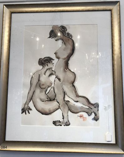 Chinese Double Nude Study