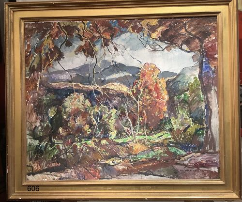 Fall Landscape: View of Orchid Hill by artist William Lester Stevens
