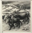 Winter Landscape with Grazing Cows