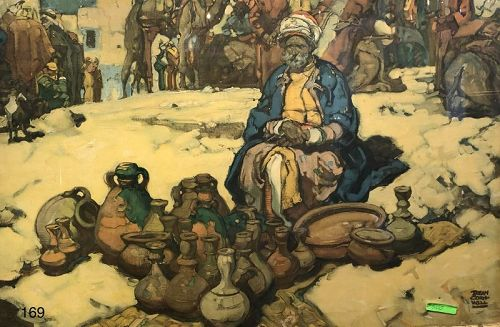 Arab Market Scene
