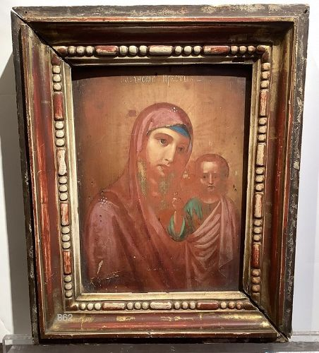 Russian Icon oil on panel 19th