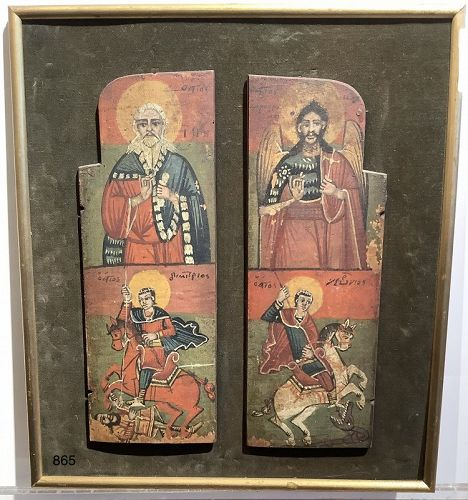 ETHIOPIAN Icon diptych, oil on panels,