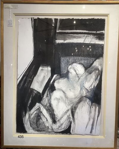Abstract Figure by Carol Chase Charcoal Large Drawing