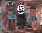 Triple Abstract By Ivory Coast Artist