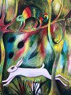 The Hare Surrealist Painting by Ephreme Kouakou