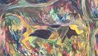 Surrealist Dream Painting by Ephreme Kouakou Large Oil