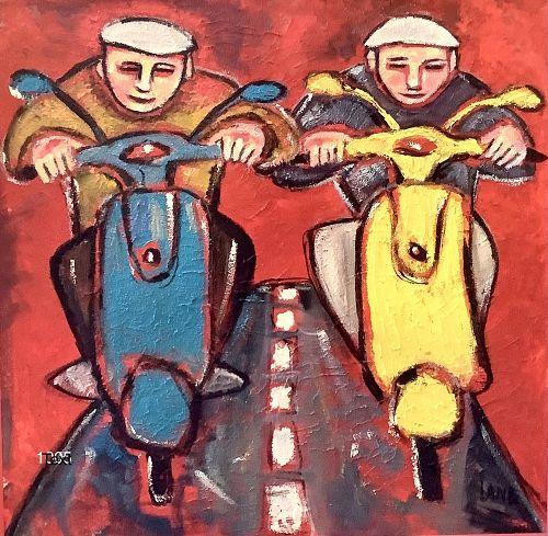 Vespa Riders by Anne Lane