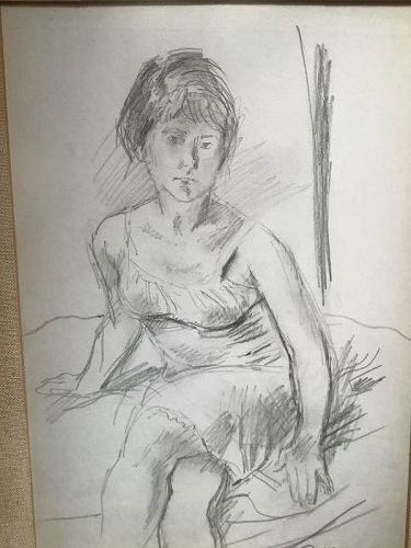 Girl Seated in a Dress