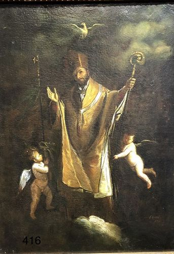 Saint Receiving the Holy Spirit