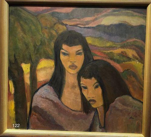 Portrait of Two Polynesian Women by Glenn Pizer