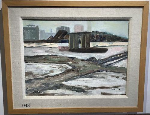 Frozen Boston Winter Abstract