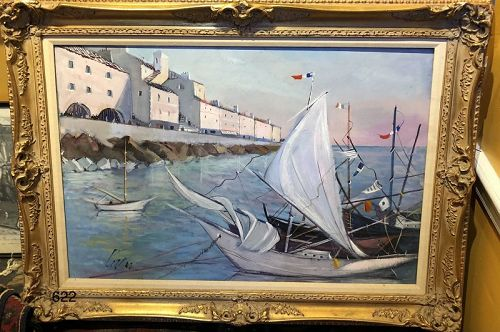 Iconic Seascape by Charles Levier Important French Artist