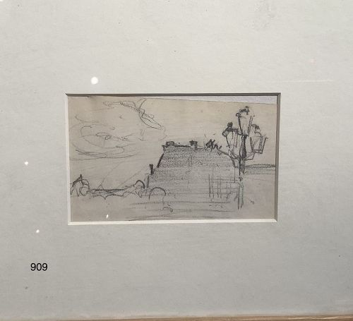Rare Drawing by Important American Artist Authur Carles