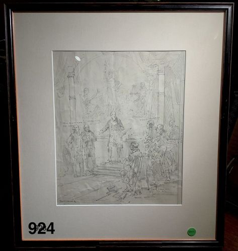 Daniel Webster Study Drawing