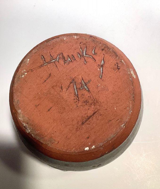 Glazed Earthenware with Rare Japanese Glaze signed