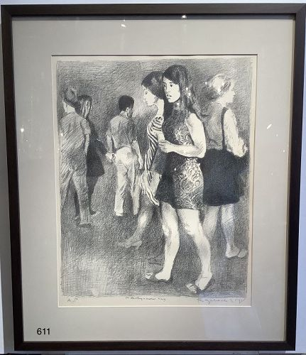 Artist Raphael Soyer Portrait of Young People