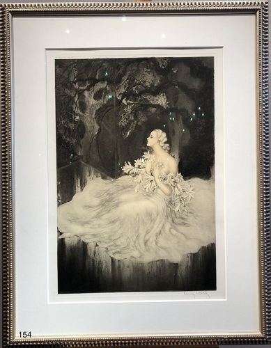 Framed etching by Licari