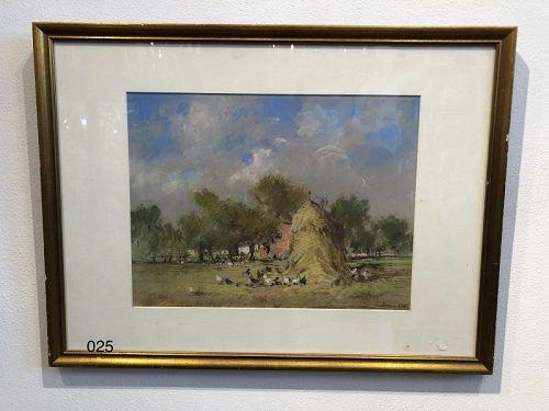 Tribute to Leon HERMETTE, French post impressionist Landscape J.J. Gou