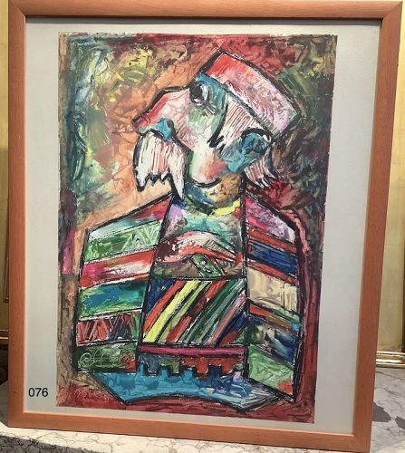 Caroline Solomon Abstract Portrait �Bosnian Grandfather�