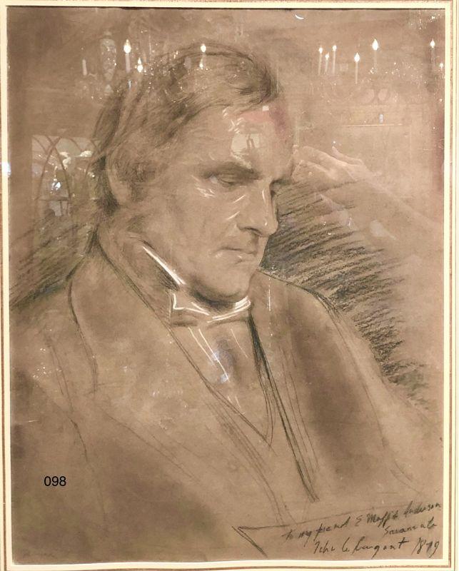 John Singer Sargent attributed portrait of Moffit Anderson 1879