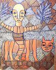 Riding Tiger Abstract by Ephrem Kouakou