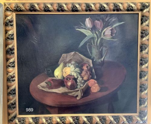 Artist Gregory McLoughlin Modernist table top still life....