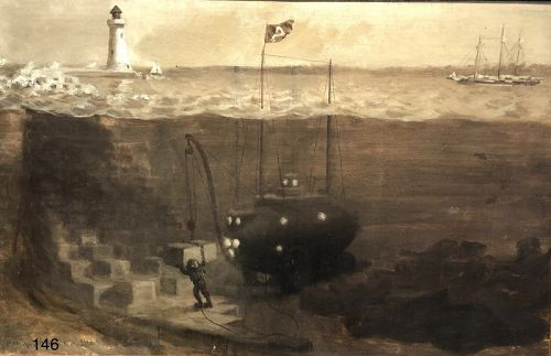 F. WhitemanArgonaut 1898 oil painting