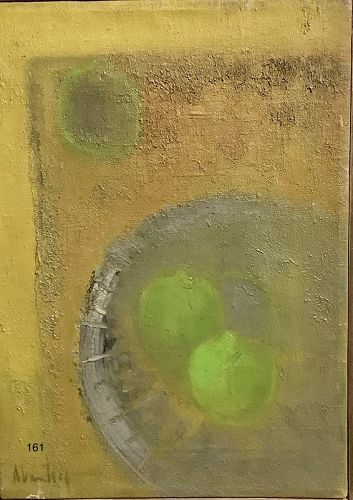 Alcantar Abstract Still Life oil on canvas 17�x10�