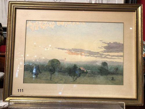 Sunset Landscape by Henry Foote