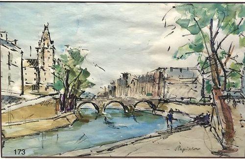 Springtime in Paris by French Artist J. Papillon