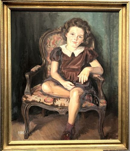 Portrait of a Little Girl by Maybel K Hatt